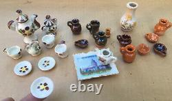 100+ Pc lot Vtg Furniture Accessories Kitchen Set Misc Dollhouse Miniature 112