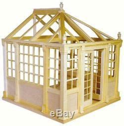 112 Dollhouse Miniature Greenhouse Kit/Miniature Conservatory KIT AZ HW9900 GH0