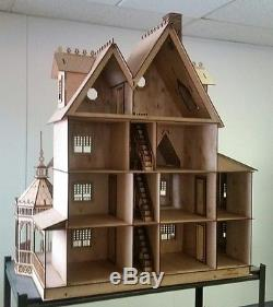 112 Scale Ashley Gothic Victorian Dollhouse Kit 0000355