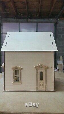 112 Scale High Ceiling Victorian Garage/workshop Laser Dollhouse Kit 0002082