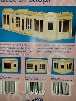 112 Scale Houseworks Street Of Shops Two Window Shop Dollhouse Kit