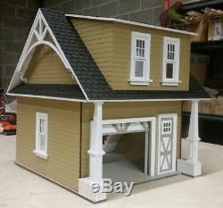 112 Scale Miniature Craftsman 1-Car Garage/Workshop Laser Dollhouse Kit 0001781