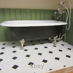 112 scale Dolls House Rolled Top Bath. Ready made in White LA07DHD