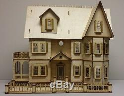 124 1/2 Scale Miniature Stephanie Country Mansion Laser Dollhouse Kit 0000378