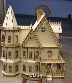 124 Scale (1/2) Miniature Dollhouse Kit Leon Gothic Victorian 80022