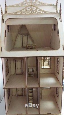 124 Scale Jasmine Gothic Victorian Dollhouse Kit 0000375