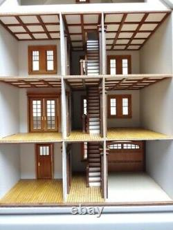 124 Scale Wooden Dollhouse Mansion Kit Easy Build
