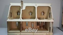 124 or 1/2 Scale Miniature Alisha Country Laser Cut Dollhouse Kit 000380