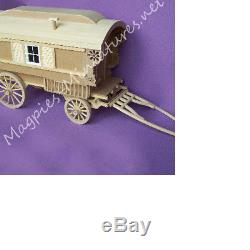 12th scale Miniature Gypsy Caravan Kit Beautiful Kit from McQueenie Miniatures
