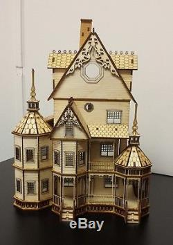 148 or 1/4 Scale Ashley Gothic Victorian Dollhouse Kit 0000394