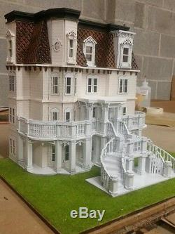 148 or 1/4 Scale Hegeler Carus Mansion Dollhouse Kit 0000390