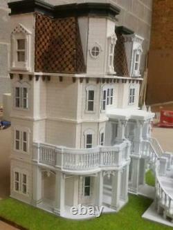 148 (quarter Scale) Miniature Dollhouse Kit Hegeler Carus Mansion 80020