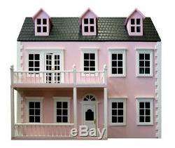 15! F7 Dolls House 1/12th Scale Glenside Grange In Pink Kit