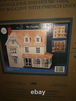 1979 Vintage Artply Co, Inc The Franklin Dollhouse Kit Model NO. 124 Wooden NEW