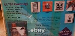 1991 DURA CRAFT CAMBRIDGE 9 Room MINIATURE DOLLHOUSE KIT Original Box DuraCraft