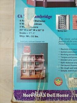 1991 Dura Craft Cambridge Mansion Miniature Dollhouse Kit New Open Box Complete