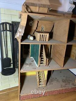 1991 Vintage Dura Craft Cambridge Wooden 7 Rooms Dollhouse CA 750 1/12 Scale