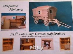 1/12th Scale Ledge Caravan Kit by McQueenie Miniatures, with Furniture Kits
