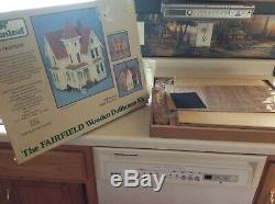 1/2 Inch Scale Greenleaf The Fairfield Victorian Wooden Dollhouse Kit Unused