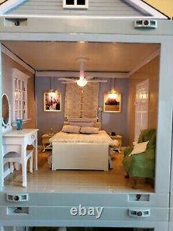 2001 Laura Ashley Dollhouse 9pcs Room By Room With Light & Sound