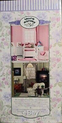 2001 Laura Ashley Four Room Decorator Dollhouse Living Room Kitchen Two Bedrooms