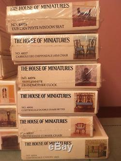 53 DOLLHOUSE Furniture Kits HOUSE OF MINIATURES Chippendale Queen Anne Rares NIB