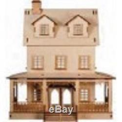 Abriana American Country Cottage Flat Pack Laser Cut 112 Scale Dolls House Kit