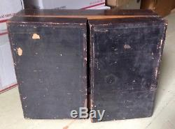 Antique Victorian dollhouse kit handmade Wooden kitchen set hinged room box