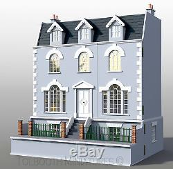 Ash Dolls House and Basement 112 Scale Unpainted Dolls House & Basement Kit