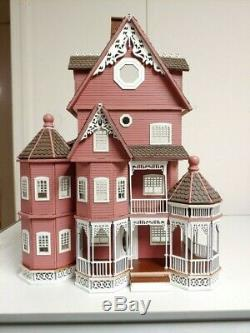 Ashley B milled siding Gothic Victorian Quarter Scale dollhouse (148)