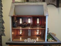 Assembled Colonial Lighted Dollhouse Half Scale From Real Good Toys Kit