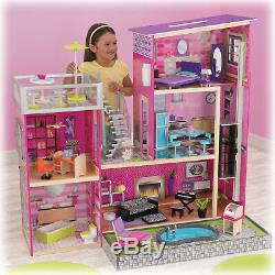 Barbie Dream House Size Dollhouse Furniture Girls Playhouse Fun Play Townhouse