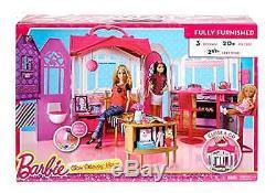 Barbie Pink Miniature Fashion Dream Dollhouse Girl Play Room Kit Kid Doll House