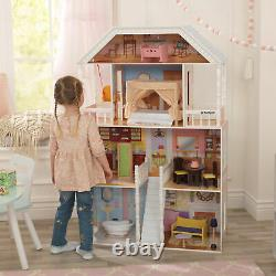 Barbie Size Dollhouse Furniture Girls Playhouse Dream Play Wooden Doll House NEW