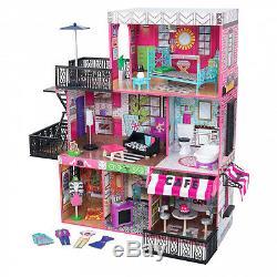 Brooklyn's Loft Dollhouse w accessories Furniture Wooden Playhouse Kids Loft Fun