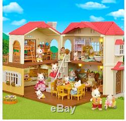 CALICO CRITTERS #CC1796 Red Roof Country Home Gift Factory Set Sealed Kids toy