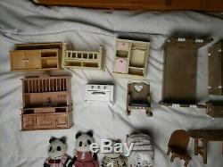 Calico Critters Sylvanian Families Green Hill House Epoch Lot Furniture Panda