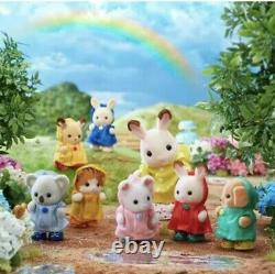 Calico Critters Sylvanian Families Happy Babies in Rain Coat Limited Japan New