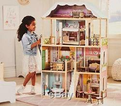 Casa De Barbie Muñecas Para NIñas Con Accesorios Muebles 6 Habitaciones Calida