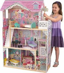 Casa De Muñecas Grande Con Juego De Mueble Niñas Dollhouse With Furniture Girls