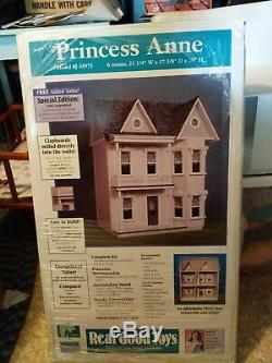 Classic Victorian Style Princess Anne Dollhouse Kit # J-M975 by Real Good Toys