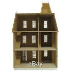Colonial Dollhouse Vintage Miniature Alison Wood DIY Collectible 112 Model Kit