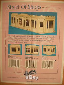 Corner Shop Kit by Houseworks 9991 unfinished wood 1/12 scale dollhouse