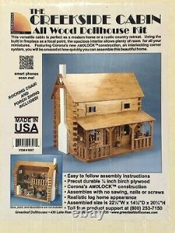 Corona Concepts Creekside Cabin All Wood Dollhouse Kit
