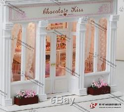 DISCONTINUEDOLLHOUSE MINIATURE DIY KIT, (X-006), COFFEE SHOP WithLIGHTS