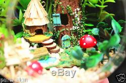 DIY Handcraft Miniature Project Kit Dolls House Lights Totoro's Forest Cottage