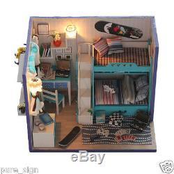 DIY Handcraft Miniature Project Kit My Little Boys Bedroom Wooden Dolls House