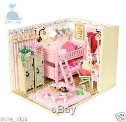DIY Handcraft Miniature Project Kit My Little Girls Bedroom Wooden Dolls House