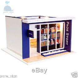 DIY Handcraft Miniature Project Kit Wooden Dolls House My Local Book Shop