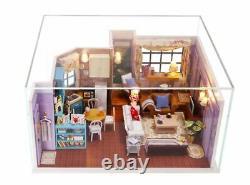 DIY Miniature Dollhouse Kit Monica's New York Apartment Friends Set Free Ship